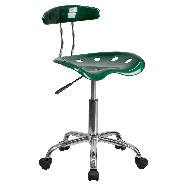 FLASH Furniture Plastic Task Chair (Dark Green)