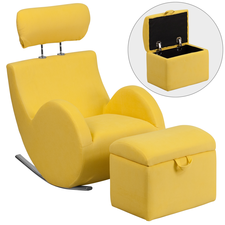 Flash Furniture Hercules Kids Rocking Chair and Storage O...