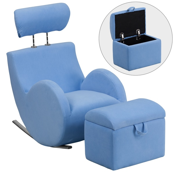Hercules Kids Rocking Chair And Storage Ottoman Set   Free Shipping Today    Overstock.com   17682731