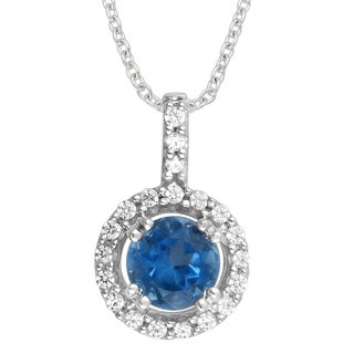 Divina 10k White Gold 1ct Tanzanite and Diamond Pendant (G-H,I1-I2)