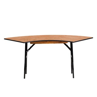 Flash Furniture 4-foot Serpentine Wood Folding Banquet Table