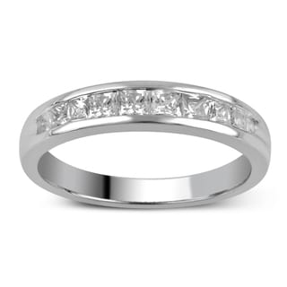 Divina 14k Gold 1/2ct TDW Princess-Cut Diamond Channel Set Wedding Band