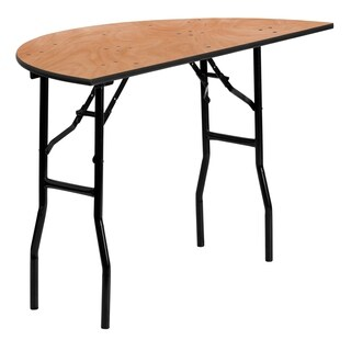 Flash Furniture 48-inch Half-Round Wood Folding Banquet Table