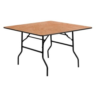 Flash Furniture 48-inch Square Wood Folding Banquet Table