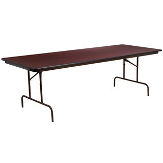 Flash Furniture 96-inch Rectangular Walnut Melamine Laminate Folding Banquet Table