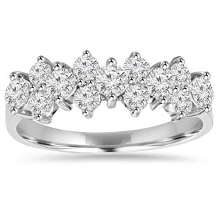 14K White Gold 1 1/ 3ct TDW Diamond Anniversary Ring (I-J, I2-I3)