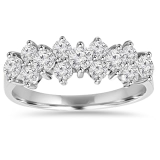 14K White Gold 1 1/ 3ct TDW Diamond Anniversary Ring