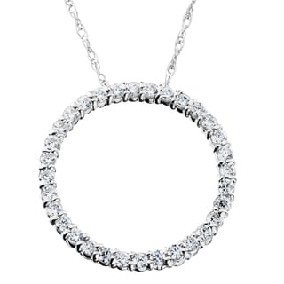 14K White Gold 1/ 2ct TDW Circle Of Life Diamond Pendant (I-J,I2-I3)