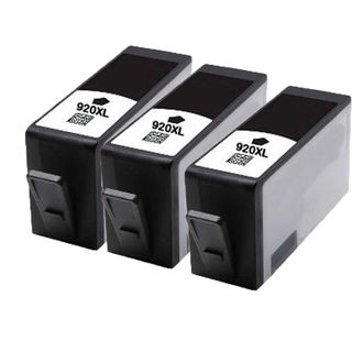 3PK 920 XL BK ( CC653AN ) Compatible Ink Cartridge For HP Officejet 6000 ( Pack of 3 )