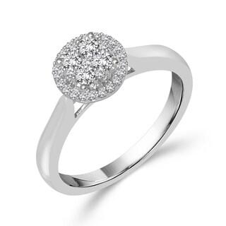 10k White Gold 1/3ct TDW Round Diamond Ring
