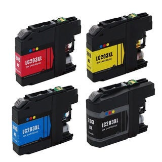 4 PK LC203 (BK C M Y) XL Compatible Inkjet Cartridge For Brother DCP-J4120DW MFC-J4420DW ( Pack of 4 )