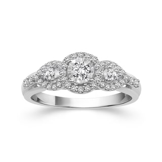 10k White Gold 3/8ct TDW Diamond Ring (H-I, I2)