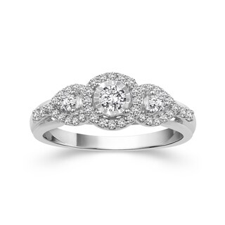 10k White Gold 3/8ct TDW Diamond Ring