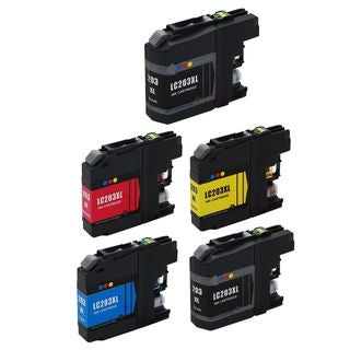 5 PK LC203 XL 2 BK + CMY Compatible Inkjet Cartridge For Brother DCP-J4120DW MFC-J4420DW ( Pack of 5 )