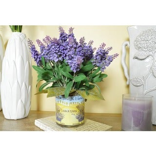 Lavender Heather French Harvest Silk Floral Arrangement