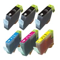 6PK CAN-TY3/3e 3 BK + C Y M Compatible Inkjet Cartridge For Canon C755 MP700 MP730 ( Pack of 6 )