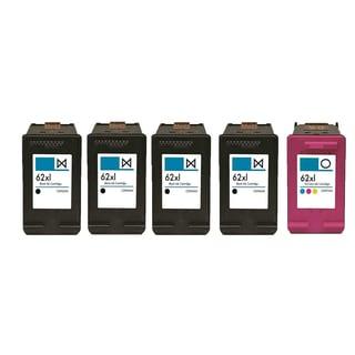 5PK 4 X C2P05AN (HP 62XL) + C2P07AN (HP 62XL) Compatible Ink Cartridge For HP DeskJet 1000 - J110a (Pack of 5)