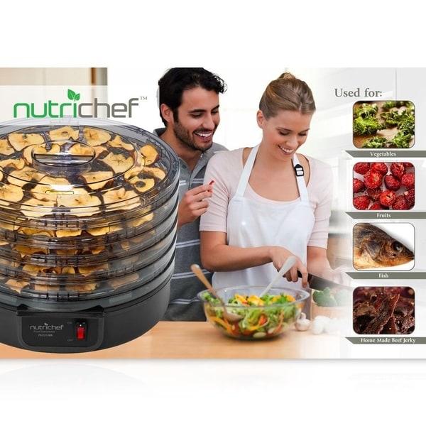 New Pyle PKFD14BK Electric Countertop Food Dehydrator Black Food Preserver