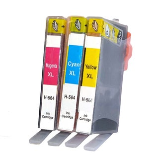3PK HP 564 XL C Y M (CB323WN - CB325WN ) Compatible Inkjet CartRidge For B8550 C5380 C6340 C6350 (Pack of 3 )