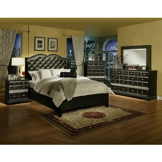 Sandberg Furniture Hollywood Glamour King-size Bed and 2 Nightstand Set