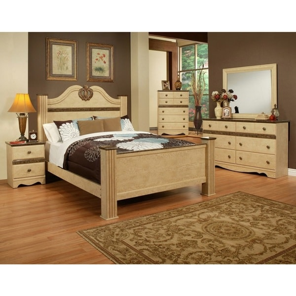 Sandberg Furniture Casa Blanca 4-piece Bedroom Set