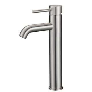 Upscale Designs Lead-Free, 12.2-inch Single Hole Sink Faucet in Brushed Nickel