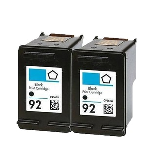 2PK C9362WN (HP 92) Black Compatible Ink Cartridge For HP Deskjet 5420 Officejet 6310 Photosmart C3100 ( Pack of 2 )