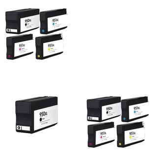 9PK 950 XL 3X BK + 2X C M Y CN045AN CN046AN CN047AN CN048AN Compatible Ink Cartridge For HP OfficeJet Pro 8100 ( Pack of 9 )