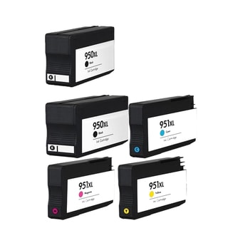 5PK 950 XL 2X BK + C M Y CN045AN CN046AN CN047AN CN048AN Compatible Ink Cartridge For HP OfficeJet Pro 8100 ( Pack of 5 )
