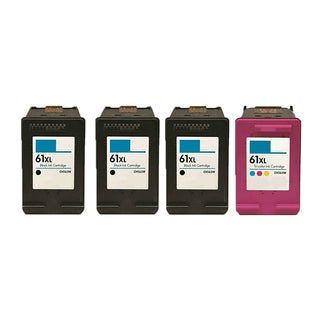 4PK 3 X CH563WN (HP 61XL) + CH564WN (HP 61XL) Compatible Ink Cartridge For HP DeskJet 1000 - J110a (Pack of 4)