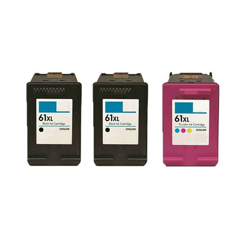 3PK 2 X CH563WN (HP 61XL) + CH564WN (HP 61XL) Compatible Ink Cartridge For HP DeskJet 1000 - J110a (Pack of 3)