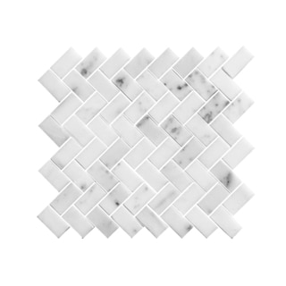 11.75-inch ZigZag Design Stone Mosaic Wall Tile (Pack of 11)