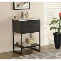 Shop 36 Inch Industrial Open Shelf Vanity Free Shipping