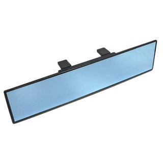 "iJDMTOY Universal Fit Broad 300mm 12"" Wide Anti-Glare Blue Tint Flat Clip On Rear View Mirror For Car SUV Van Truck, etc"