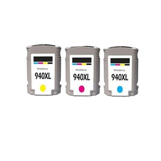 3PK 940 XL C M Y C4907AN C4908AN C4909AN Compatible Ink Cartridge For HP Officejet Pro 8000 ( Pack of 3 )