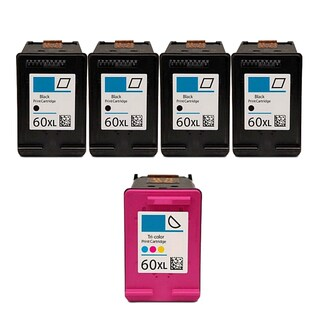 5PK 4 CC641WN (HP 60XL) + CC644WN (HP 60XL) Compatible Ink Cartridge For HP D1660 D2500 D2530 D2545 (Pack of 5)
