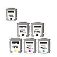 6PK 940 XL 3X BK + C M Y C4906AN C4907AN C4908AN C4909AN Compatible Ink Cartridge For HP Officejet Pro 8000 ( Pack of 6 )