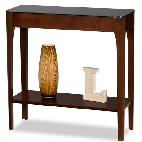 Clay Alder Home Lisco Obsidian Black Tempered Glass Hall Stand