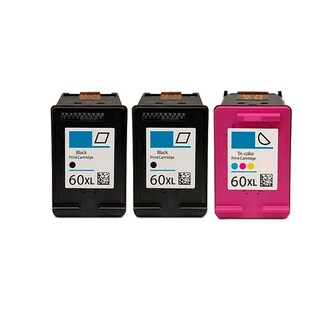 3PK 2 CC641WN (HP 60XL) + CC644WN (HP 60XL) Compatible Ink Cartridge For HP D1660 D2500 D2530 D2545 (Pack of 3)