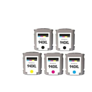 5PK 940 XL 2X BK + C M Y C4906AN C4907AN C4908AN C4909AN Compatible Ink Cartridge For HP Officejet Pro 8000 ( Pack of 5 )