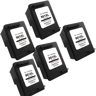 5PK 901XL BK (CC654AN) Compatible Ink Cartridge For HP J4500 J4540 J4550 ( Pack of 5 )