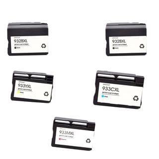 5PK 2 x 932 XL BK + 933XL C M Y ( CN053AN - 056AN ) Compatible Ink Cartridge For HP OfficeJet 6600 ( Pack of 5 )