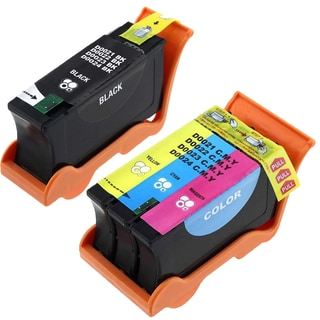 2PK T105N + T106N Black & Color Compatible Ink Cartridge For Dell V515W ( Pack of 2 )