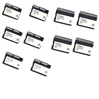 10PK 4 x 932 XL BK + 2 x 933XL C M Y ( CN053AN - 056AN ) Compatible Ink Cartridge For HP OfficeJet 6600 ( Pack of 10 )