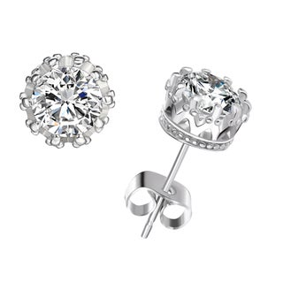 2ct Topaz Fancy Crown Setting Studs