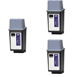3PK HP 51629 (HP 29) Black Compatible Ink Cartridge For HP DeskJet 600, DeskJet 600c ( Pack of 3 )