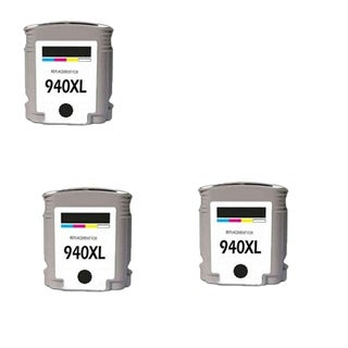 3PK 940 XL BK C4906AN Compatible Ink Cartridge For HP Officejet Pro 8000 ( Pack of 3 )