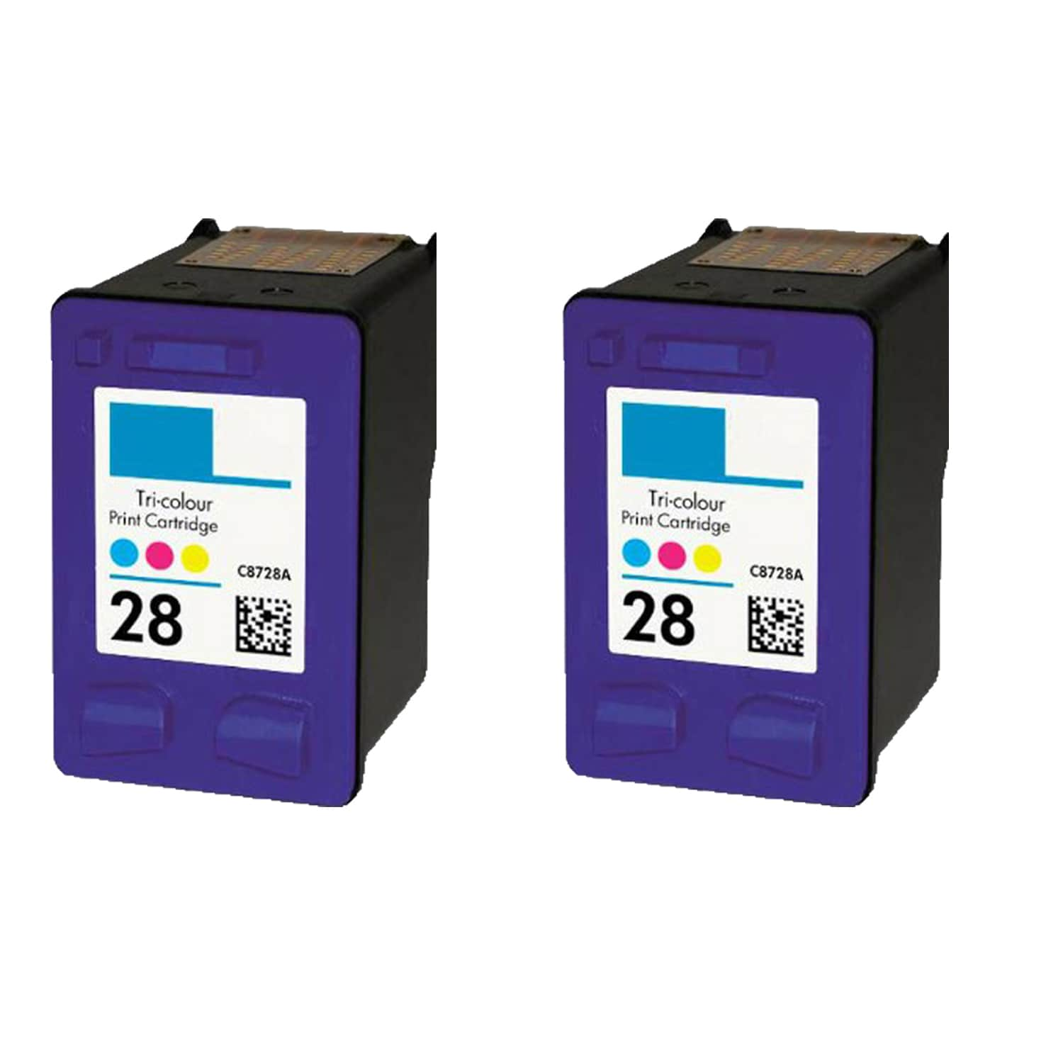 N 2PK HP C8728A (HP 28) Color Compatible Ink Cartridge Fo...