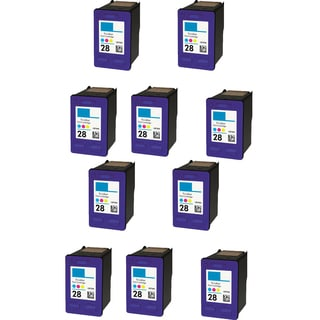 10PK HP C8728A (HP 28) Color Compatible Ink Cartridge For HP Deskjet 3320 3322 ( Pack of 10 )