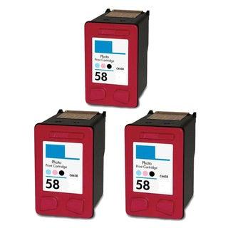 3PK HP C6658 (HP 58) Compatible Ink Cartridge For HP 3620v 3650 3650v 3651 (Pack of 3)